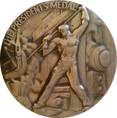 Allegheny Ludlum Medal Obverse
