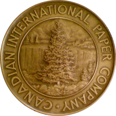 Obverse of Canadian International Paper Company medal