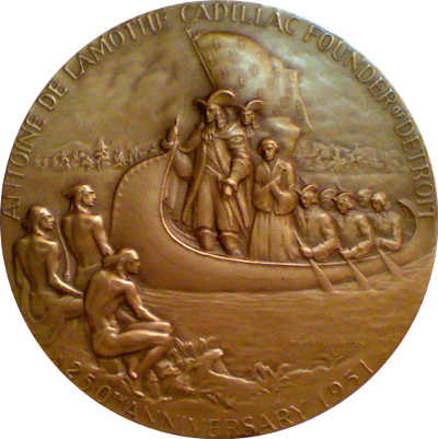 Obverse of Detroit 250th Anniversary Medal