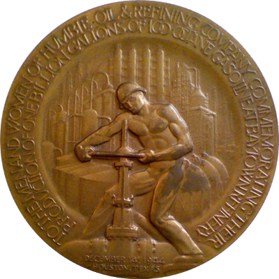 Obverse of Humble Oil medal