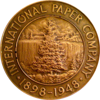 Obverse of International Paper Company medal