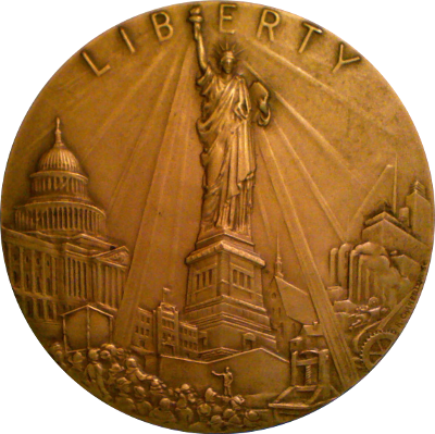 Obverse of Liberty medal